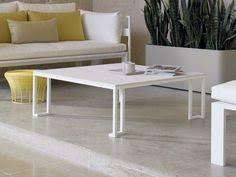Low <b>Square aluminium</b> garden <b>side table</b> JIAN Jian Collection by ...