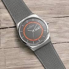amazon com skagen men s skw6078 melbye grey titanium mesh watch about skagen