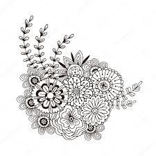 Vector Patroon Met Abstract Ornament Van Bloemen Stockvector M