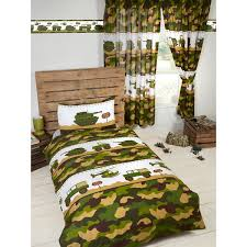 Attractive Military Themed Army Camp Single Bedding Set. Matching Curtains And  Wallpaper Border Available Plus Free