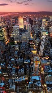 New York City, Manhattan, USA, night ...