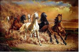 wall art enchanting paintings on canvas large canvas art four horse stunning paintings on