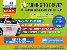 get 20 off a new short term policy and up to 20 off every subsequent short term policy for learner driving insurance with bill plant driving school