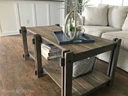 rustic farmhouse coffee table featuring