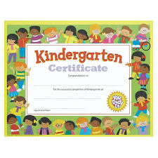 certificates of completion for kids kindergarten certificate with kids border