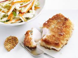 pan fried cod with slaw recipe food