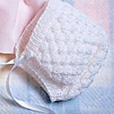 Baby Bonnet Pattern Magnificent Ravelry Winsome White Baby Bonnet Pattern By Carole Prior