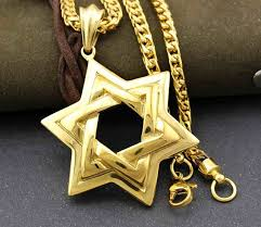 star of david necklace awesome golden men biker stainless steel jewish star of david pendant