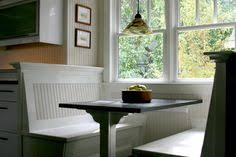 classy kitchen table booth. Dark Wood Table With Classy White Wooden Kitchen Booth Style Bench Hyeriders L
