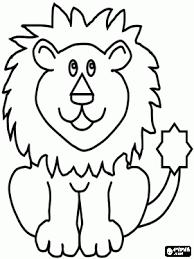 Zittende Leeuw Kleurplaat Voetbal Lion Coloring Pages Animal