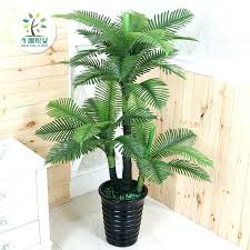 palm trees fake for living room simulation plant pots green plants decoration tree banana with lights
