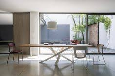 stainless steel and wood table by ssi shangai collection
