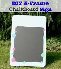 diy a frame chalkboard sign