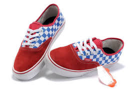 vans shoes red and white. red vans classics blue/white checkerboard authentic shoes sale and white