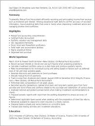 Resume Templates: Mutual Fund Accountant