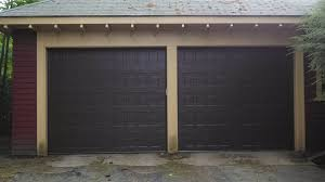 dark brown garage doorsAmarr Oak Summit Recessed Dark Brown  Yelp