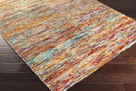 orange area rug within bazaar cherry burnt froy decor 4
