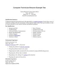 Computer Technician Resume Sample Tech Template Infinite Snapshot 1