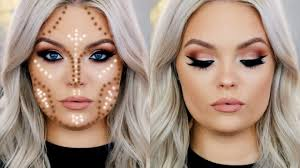 today i m showing you how to contour and highlight a round face shape this creates shadows to help give the illusion of a chiseled and sculpted face
