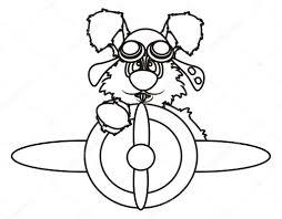Bunny Vliegen In Een Vliegtuig Kleurplaten Stockfoto