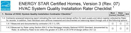 Contractor Checklist Contractor Prepared Balancing Report Collected By Rater Building