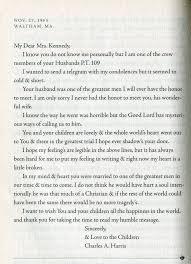 Reader Jfk Harris Letter Jackie