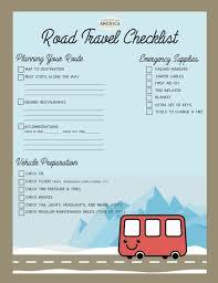 Printable Packing List Travel Checklist Exploration America