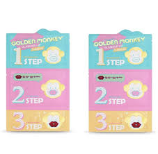HOLIKA <b>HOLIKA Golden Monkey Glamour</b> Lip 3-Step Kit - 2PCS ...