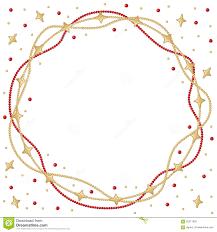Weihnachtsstern Bördelt Runden Rahmen Der Girlande Vektor