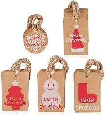 <b>100 Pcs</b> DIY Tags Recyclable Brown Hang Paper Xmas Present ...