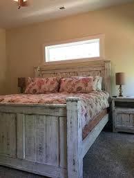 Reclaimed Wood Bedroom Set Reclaimed Wood Bed Frame White Reclaimed ...