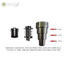 710 Life Reversible Domeless Titanium Nail 10mm 14mm 18mm Male Female For 20mm Enail Coil