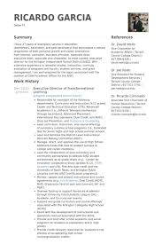 executive director of transformational learning resume samples executive director resume sample