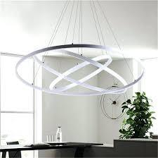 lamp fixtures modern circular ring pendant lights 3 2 1 circle rings acrylic aluminum led