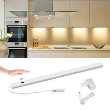 Under Cabinet Bar Lighting Us 9 25 36 Off Kitchen Lights Accessories Hand Sweeping Sensor Under Cabinet Led Strip Bar Lights 5w 6w 7w Diy Kitchen Bedside Lights Led Lamp In