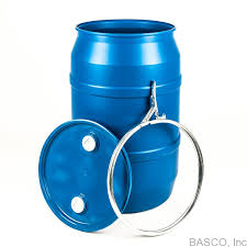 free 55 gallon plastic drum. Brilliant Gallon 55 Gallon Blue Plastic Drum Lever Lock Cover With Fittings On Free T