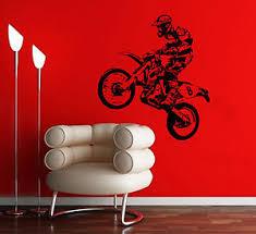 image is loading dirt bike wall art sticker motorcycle decal scrambling  on dirt bike wall art with dirt bike wall art sticker motorcycle decal scrambling jump vinyl
