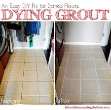 an easy diy fix for dated tile flooring how to dye your own grout