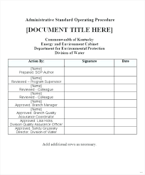 Sop Templates Cool Sop Template Free Download Word Standard Format Sample Templates For