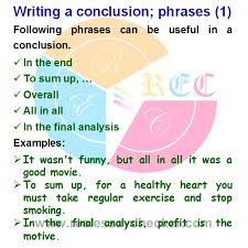 free tutorial on useful phrases for conclusion  how to write a   writing a conclusion phrases