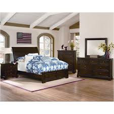 810-663-lp Vaughan Bassett Furniture Hanover - Dark Cherry Bed