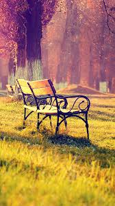 Wallpaper Fall Park Chair Lonely Nature ...