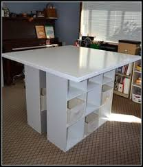 one rustic daisy: DIY Craft Table Half of this would be great against a wall