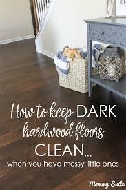 how to keep dark hardwood floors clean