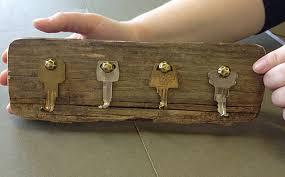 58- old wood key rack rustic style