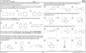 Excel Math: Slide, Flip, and Turn Worksheet & Games