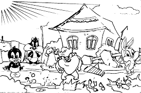 Baby Looney Tunes Coloring Page | Wecoloringpage