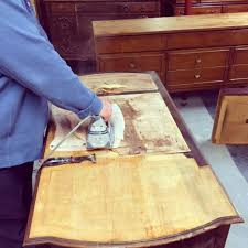 Remove veneer from furniture desk or dresser SIMPLE REDESIGN