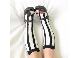 Dívčí černo Bílé Ponožky