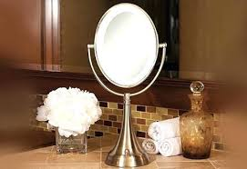 battery operated makeup mirror battery operated lighted makeup mirrors cordless oval vanity mirror sharper image battery
